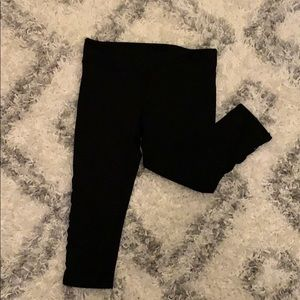 Fabletics crop leggings with cut out up the side L
